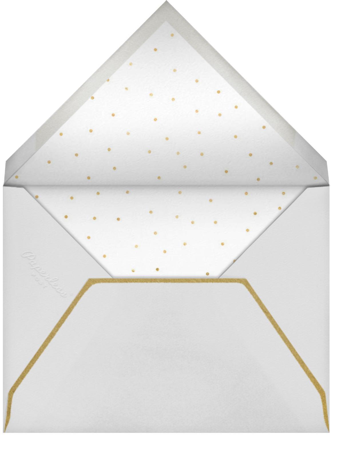 Brushed With Pine - Meri Meri - Christmas baby shower invitations - envelope back