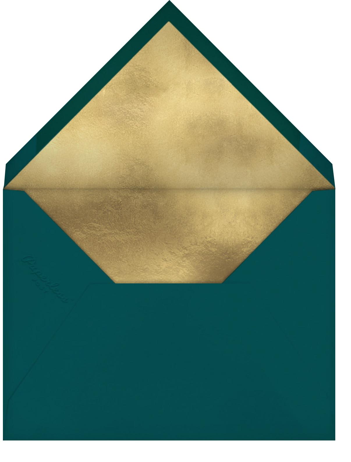 Christmas Critters - Meri Meri - Christmas baby shower invitations - envelope back