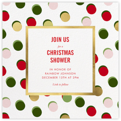Hot Dotties - kate spade new york - Christmas Baby Shower Invitations