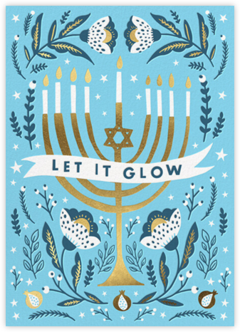 Menorah Glow - Hello!Lucky - Hanukkah Cards