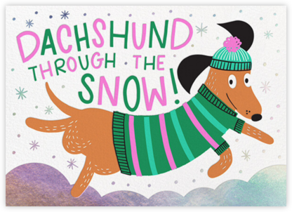 Dachshund - Hello!Lucky - Holiday Cards