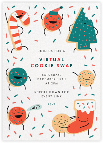 Cookie Party - Hello!Lucky - Cookie Swap Invitations