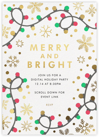 Merry Lights - Hello!Lucky - Holiday invitations