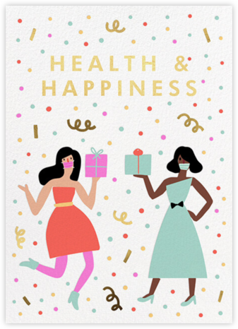 Confetti and Masks - Hello!Lucky - Holiday Cards