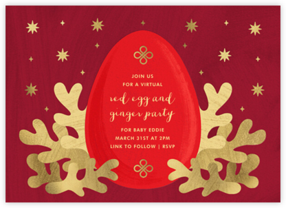 Red Egg - Paperless Post - 100 Day Celebration Invitations