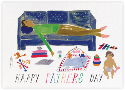 Daddy's Cat Nap - Medium - Mr. Boddington's Studio - Father's Day Cards