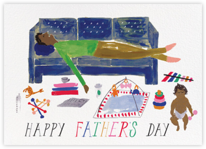 Daddy's Cat Nap - Tan - Mr. Boddington's Studio - Father's Day Cards