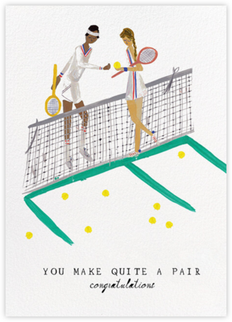 Tennis is for Lovers - Medium/Tan - Mr. Boddington's Studio - Congratulations cards