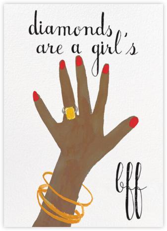 Diamonds Are A Girl's Best Friend - Tan - Mr. Boddington's Studio - Congratulations cards