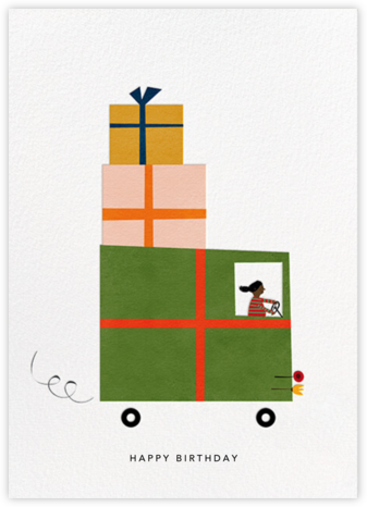 Gift Truck (Blanca Gómez) - Deep - Red Cap Cards - Birthday Cards for Him