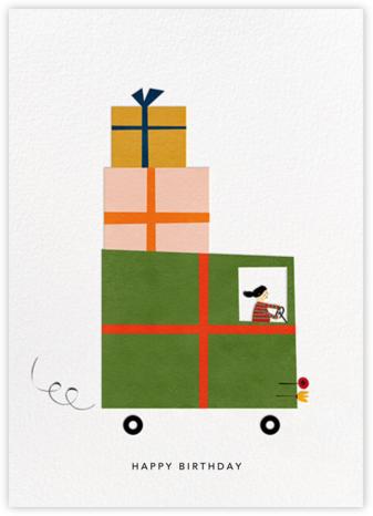 Gift Truck (Blanca Gómez) - Light - Red Cap Cards - Birthday Cards for Him