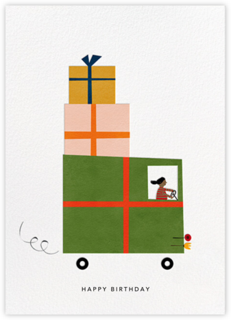Gift Truck (Blanca Gómez) - Tan - Red Cap Cards - Birthday cards