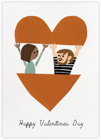 In Your Heart (Christian Robinson) - Tan/Fair - Red Cap Cards - Valentine's Day Cards