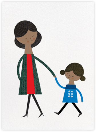 Mom and Me (Blanca Gomez) - Tan - Red Cap Cards - Mother's Day Cards