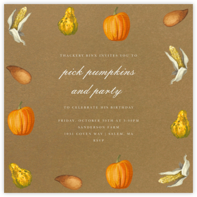 Thanksgiving Food - Paperless Post - Adult Birthday Invitations