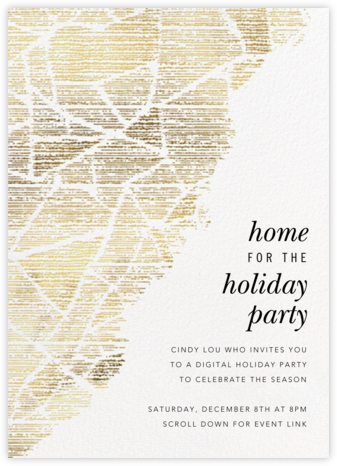 Prism Fade - White - Kelly Wearstler - Christmas party invitations