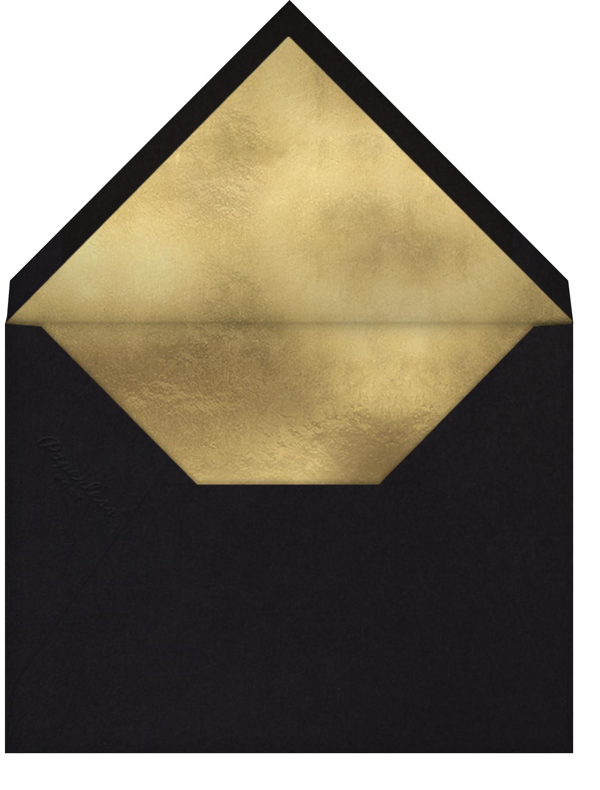 Neve - Black - Kelly Wearstler - Engagement party - envelope back