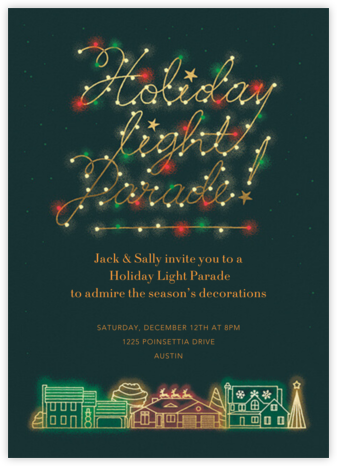 Light Parade - Paperless Post - Holiday invitations