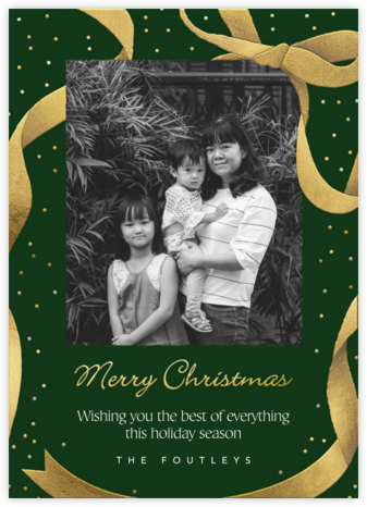 Wrapped with Love - Forest Green - Paperless Post -