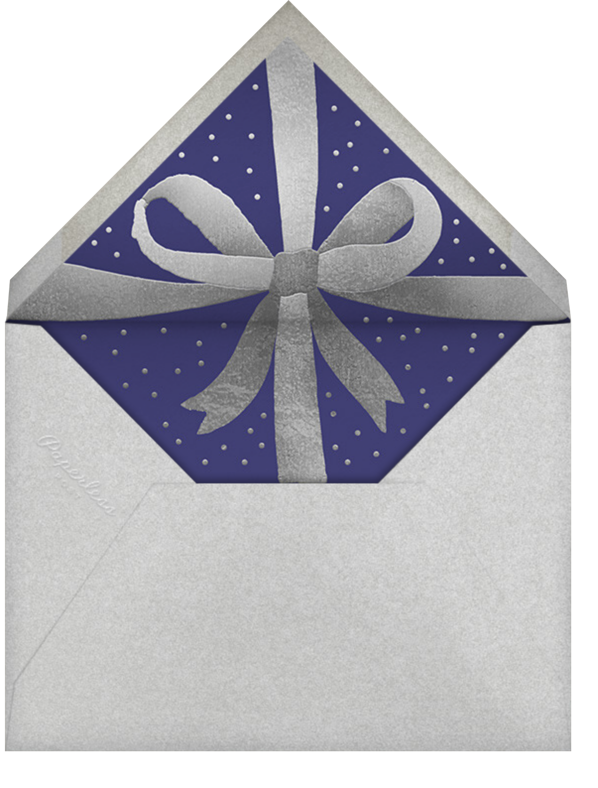 Wrapped with Love - Indigo - Paperless Post - Hanukkah - envelope back