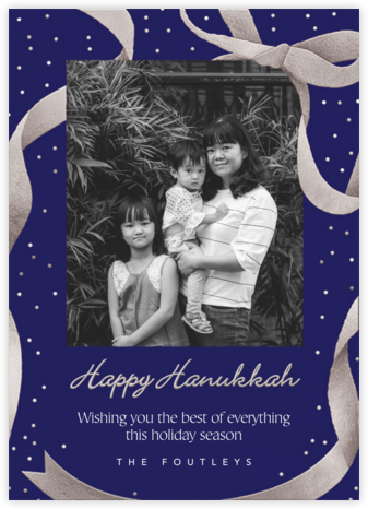 Wrapped with Love - Indigo - Paperless Post - Hanukkah Cards