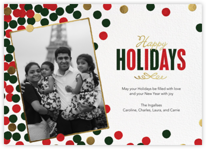 Sprinkled Confetti (Portrait Photo) - Happy Holidays - Paperless Post - Holiday Cards