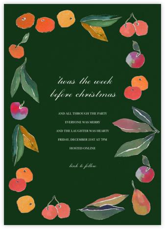 Winter Harvest - Happy Menocal - Christmas party invitations