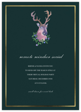 Near and Deer - Happy Menocal - Holiday invitations