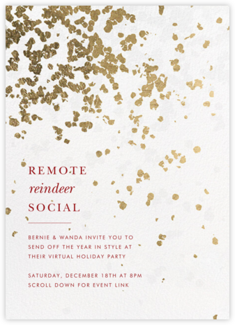 Neve - White - Kelly Wearstler - Holiday invitations