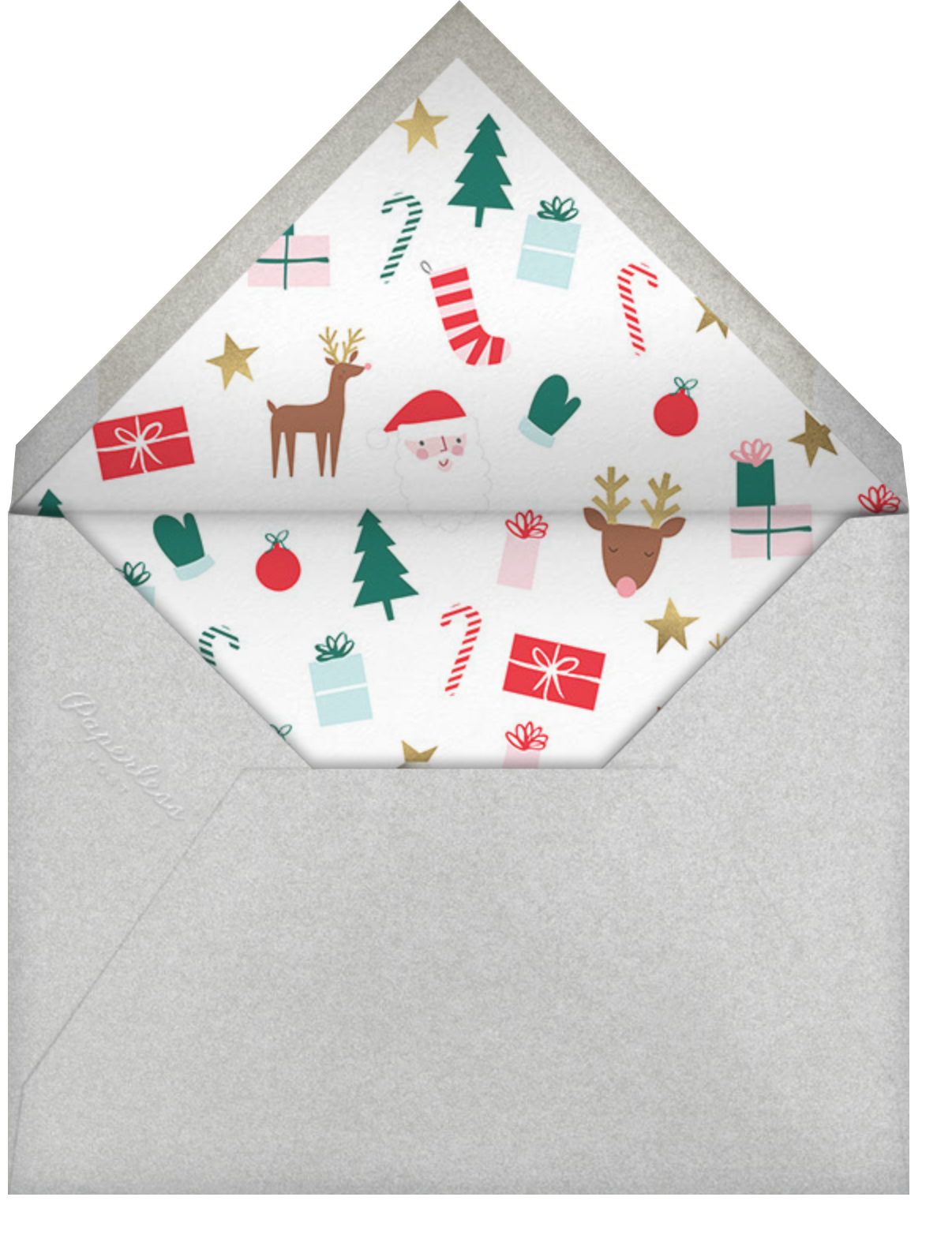 Santa's Satisfied - Deep - Meri Meri - Christmas - envelope back