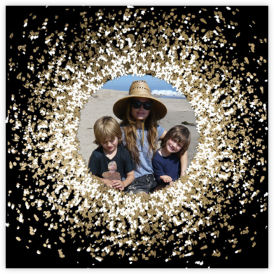 Frosted Photo - Black - Kelly Wearstler - Holiday Cards