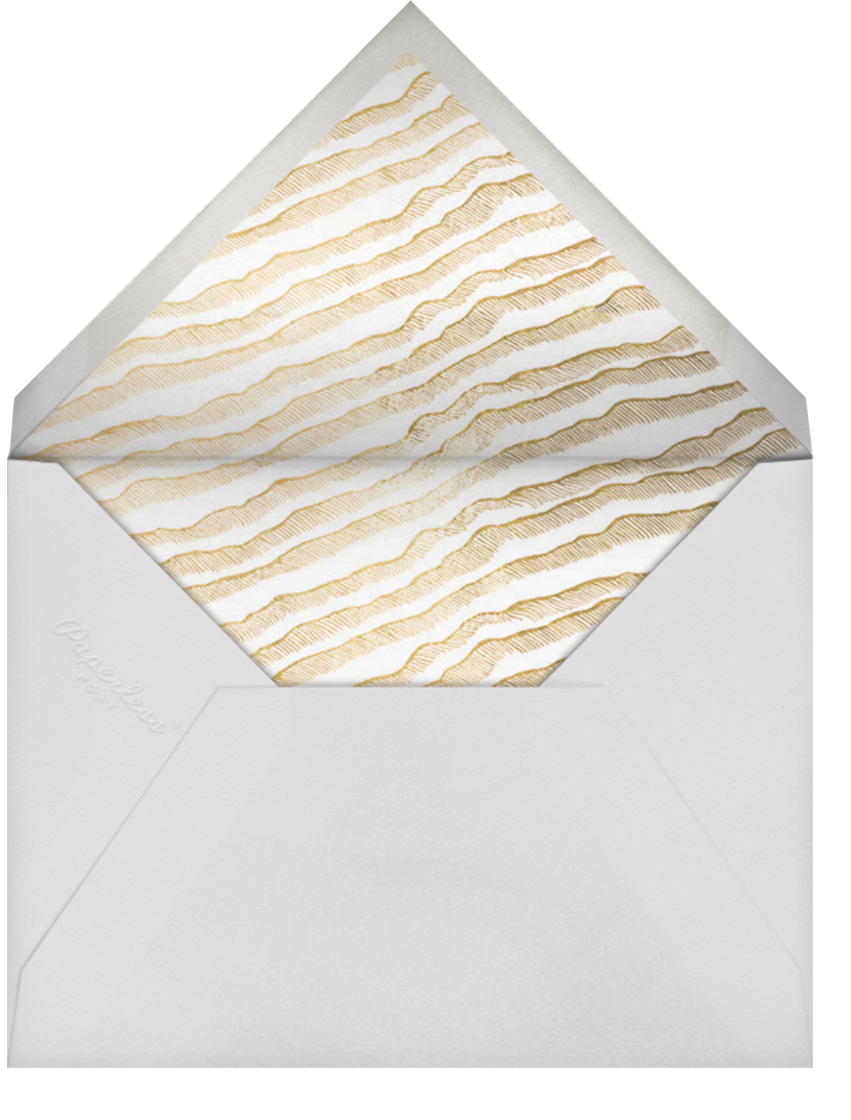 Frosted Photo - White/Gold - Kelly Wearstler - Holiday cards - envelope back