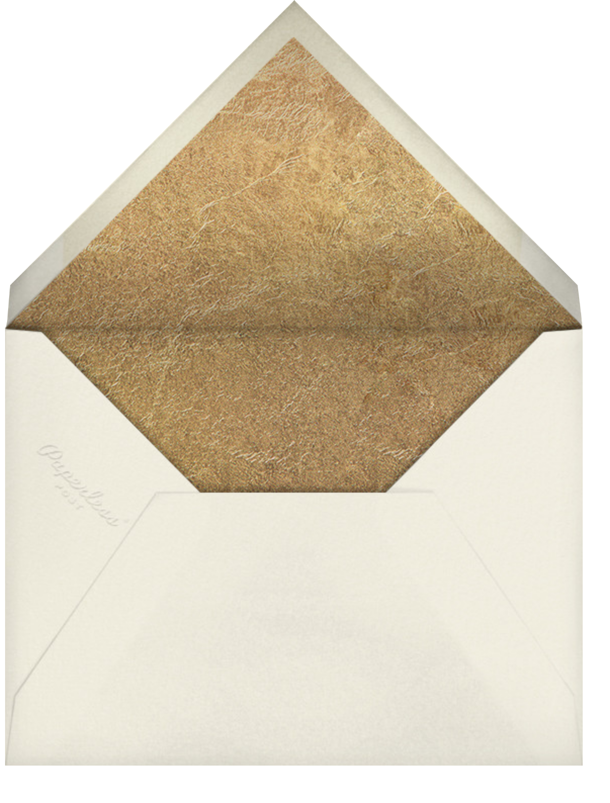 Surge - Gold - Kelly Wearstler - Holiday cards - envelope back