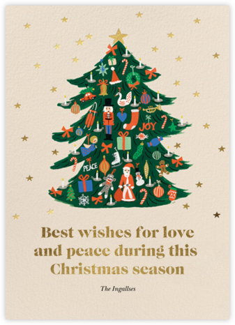 Trimmed Tree - Rifle Paper Co. - Christmas Cards