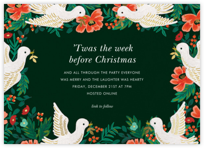 Peace Doves - Rifle Paper Co. - Christmas party invitations