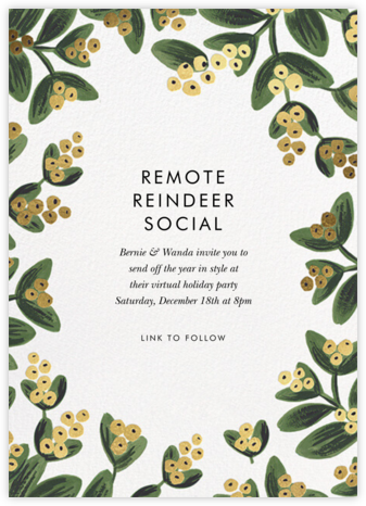 Mistletoe Gold - Rifle Paper Co. - Virtual Parties