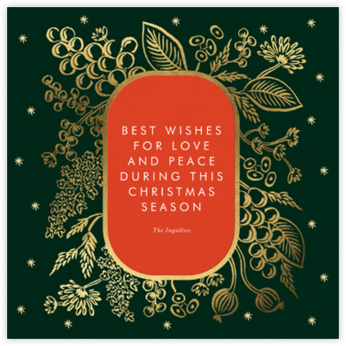 Golden Holiday - Rifle Paper Co. - Holiday Cards