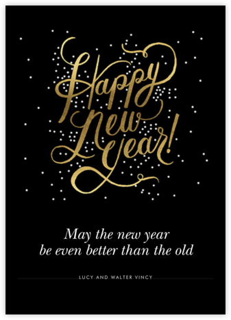 Shimmering New Year - Invitation - Rifle Paper Co. - Online Cards