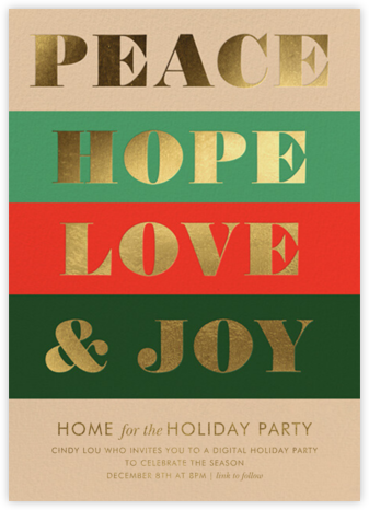Peace and Joy - Rifle Paper Co. - Virtual Parties