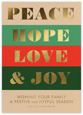 Peace and Joy - Rifle Paper Co. - Holiday Cards
