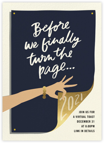 Page Turner - Medium - Cheree Berry Paper & Design - New Year's Eve Invitations