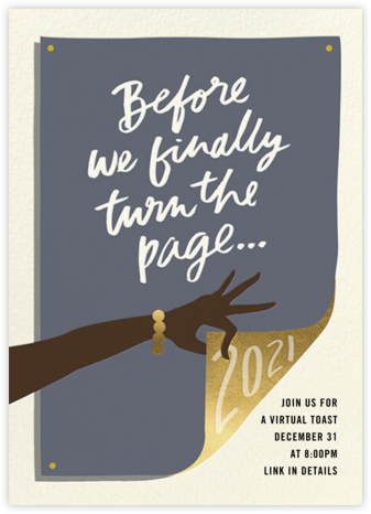 Page Turner - Deep - Cheree Berry Paper & Design - New Year's Eve Invitations