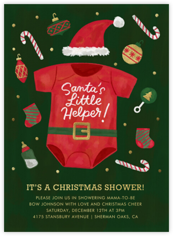 Santa Onesie - Paperless Post -