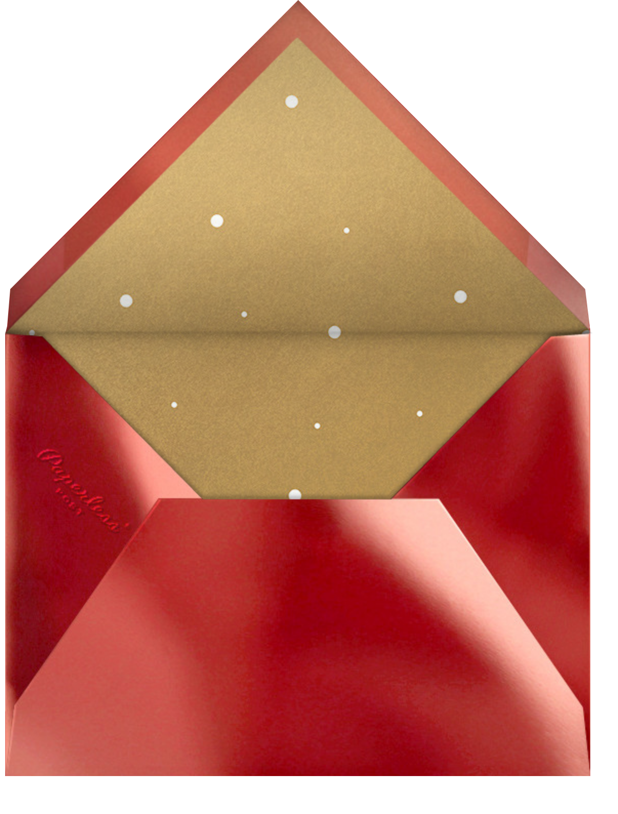 Shiny and New (Christmas) - Red - Paperless Post - Envelope