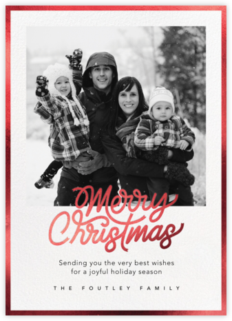 Shiny and New (Christmas) - Red - Paperless Post - Photo Christmas Cards