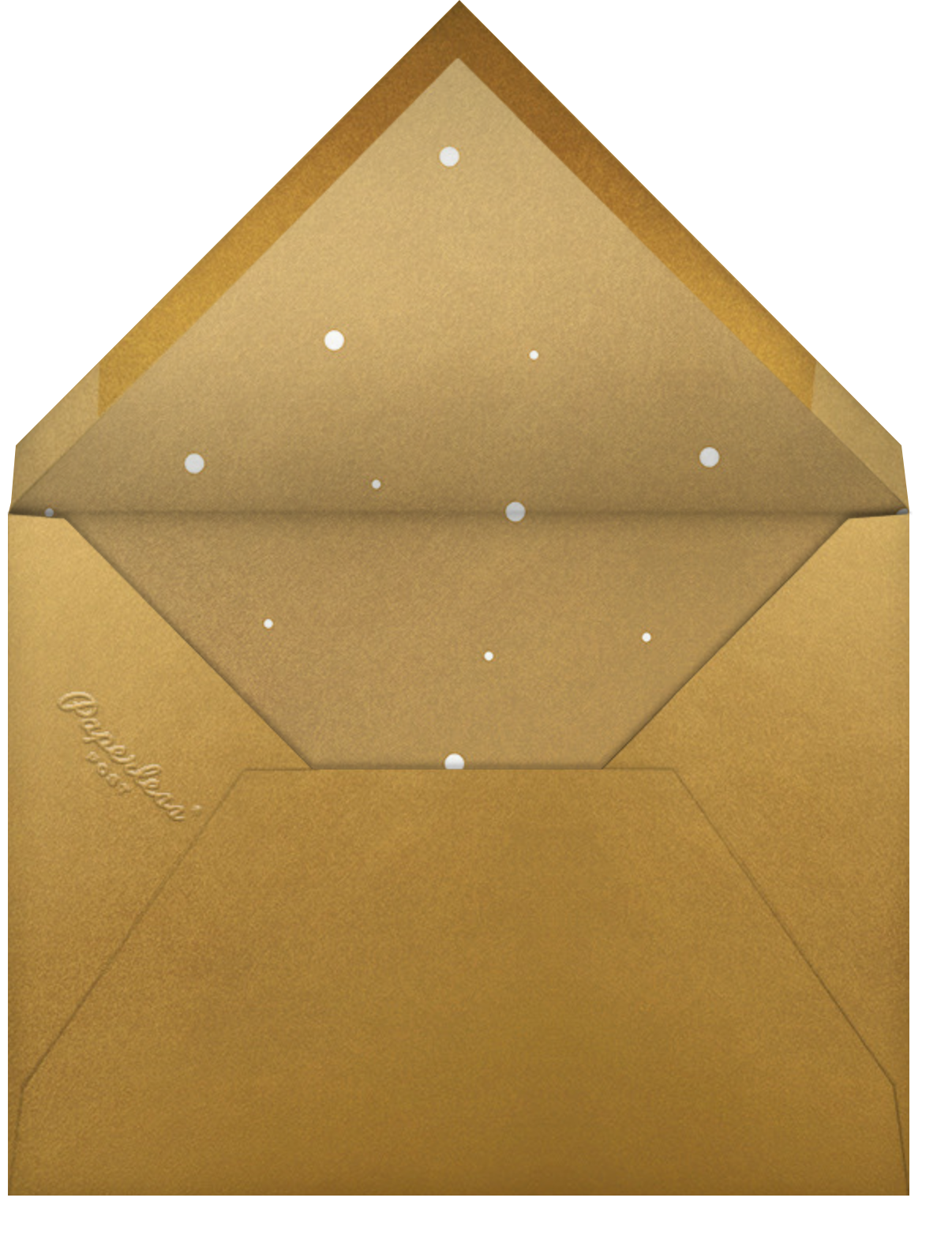 Shiny and New (Holiday) - Gold - Paperless Post - Envelope