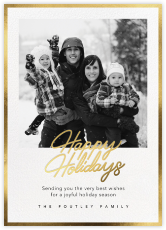 Shiny and New (Holiday) - Gold - Paperless Post - Holiday Cards