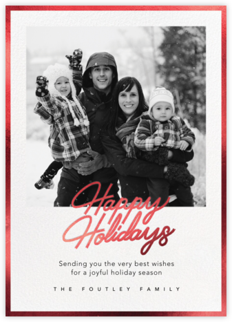 Shiny and New (Holiday) - Red - Paperless Post - Holiday Cards