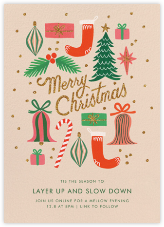 Christmas Spirit - Rifle Paper Co. - Invitations