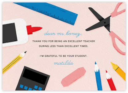 Bookbag Essentials - Paperless Post - Online Thank You Cards